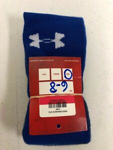 Under Armour Performance OTC All Sport Cushioned Socks Blue Size 6-8  U405
