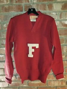 VTG 40'S Stanford University Roos Brothers Cheerleader Wool SWEATSHIRT Size 40