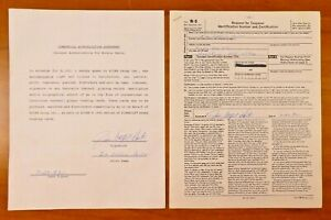 Jim Catfish Hunter Signed Contract and Tax Form For Baseball Card $199.99