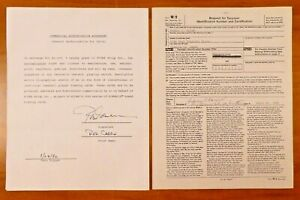 Rod Carew Signed Contract and Tax Form For Baseball Card $199.99