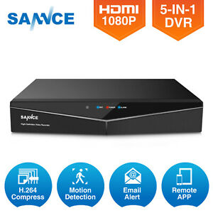 SANNCE 8CH HD 1080P HDMI CCTV DVR TVI Video Recorder Home Security Camera System