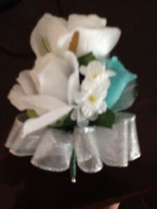 Brides Corsage, Pin On, Designed In Your Color Combination.  2 For $18.00.