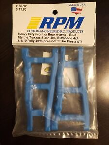 NEW RPM Traxxas SlashStampede 4x4 Front or Rear A-arms Blue 80705