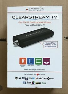 Antennas Direct Clear Stream TV Digital Tuner ‑ Black. New In Box. Free Shipping