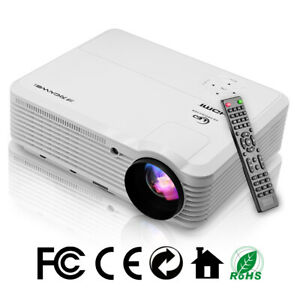 1080p LED Multimedia Home Theater HD Projector Video Game Party HDMI USB 6000LMS