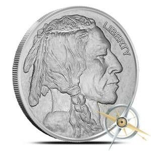 1 oz Silver Round - Buffalo Nickel