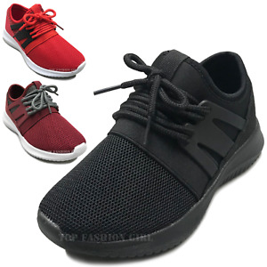 NEW Kids Mesh Sneakers Athletic Lace Up Boys Girls Tennis Shoe Size Youth 10 4 $15.95