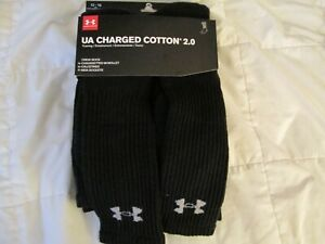 NEW Mens UNDER ARMOUR CHARGED COTTON 2.0 Crew 6 Pk Men 12-16 XL Black FREE SHIP