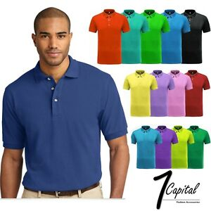 Men's Polo Shirt Dri Fit Golf Sports Cotton T Shirt Jersey Casual Short Sleeve $9.99