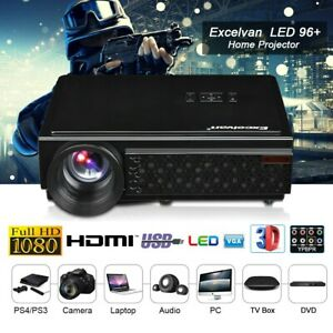 5000 Lumens LCD LED Full HD 1080P Home Projector Video Multimedia HDMI USB SD