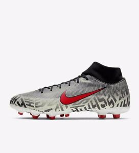 Nike Superfly 6 Academy NJR FGMG AO9466-170 White Red Black Men's Soccer Cleats