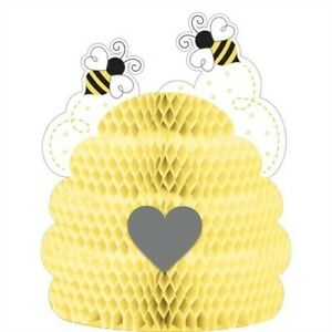 Bumblebee Baby Honeycomb Shaped Centerpiece Bee Baby Shower Decoration