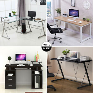 PC Computer Desk Laptop Table Study Workstation Home Office Furniture wShelf