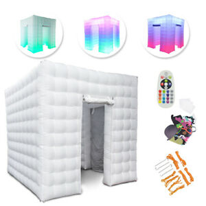 110V 2 Door Inflatable LED Light Photo Booth Party Birthday Wedding Tent 2.5M