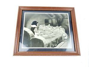 Disney Snow White and the Seven Dwarfs Framed Lithograph Art Print. Numbered $28.00