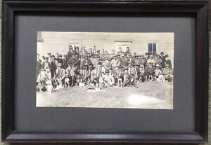 Antique Hunting Photograph Hounds Dogs Guns
