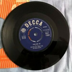 PETER JAY AND THE JAYWALKERS REDSKINS CAN CAN 62 1962 DECCA LABEL POP EX GBP 3.99