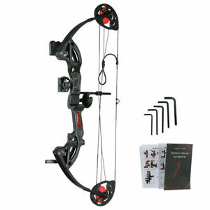 Outdoor 12-26lbs Youth Compound Bow Hunting Archery Right Hand With 4 Arrows Set