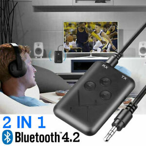 Bluetooth Receiver Transmitter Audio Adapter For TVPC Headphone Speaker P5L9G