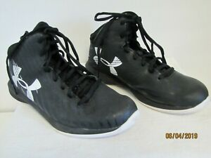 EUC UNDER ARMOUR JET MID BOYS KIDS HIGH TOP BASKETBALL Shoes Youth Size 5.5Y $24.50