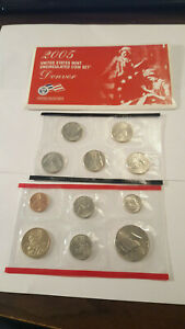 2005 US Coin Mint Set Dollar Kennedy Half Dollar State Quarters Free Shipping 61