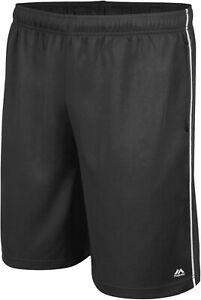 YOUTH SHORTS MAJESTIC PERMIER MESH TRAVEL SHORTS CO YOUTH LARGE BLACK NEW $10.49