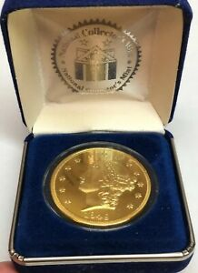 1849 Liberty Double Eagle $20 National Collector's Mint 24K Layered Replica Coin
