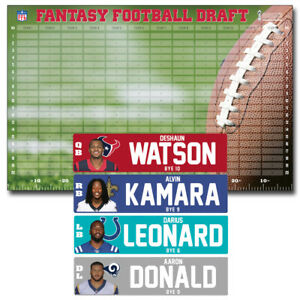 JUMBO IDP Fantasy Football Draft Kit 2019 - Player Labels & Draft Board + EXTRAS