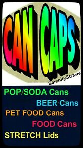 Soda Can Lids, Beer Can Caps, Soda Savers, Food Can Lids, Stretch Food Covers