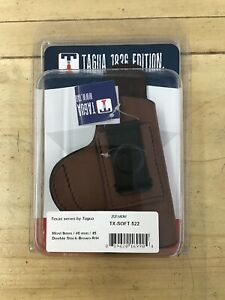 Tagua Texas Series Fits Most 9mm, 40mm, 45 Double Stack Brown R/H TX-SOFT-522