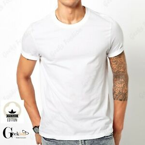 *NEW* 3 6 PACK 100% COTTON Crewneck Tagless T shirt Undershirt S XL $10.99