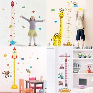 Removable Height Chart Measure Wall Sticker Decal Kids Baby Room Giraffe Rock FD