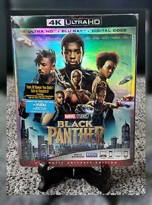 Black Panther 4K Ultra HD Blu-ray w Slipcover + Protector NO DIGITAL CODE