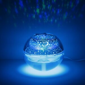 Crystal Light Projector Color Changing Ultrasonic Humidifier Diffuser Aroma