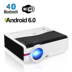 Android WiFi Bluetooth Home Theater Projector Airplay Movie Party Gaming HDMI TV