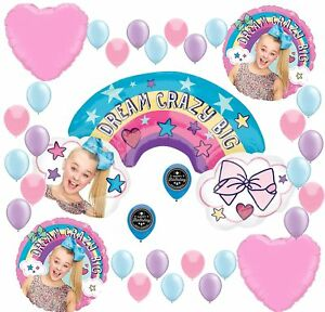 JOJO SIWA Party Supplies Birthday Balloon Decoration Bundle For Big XL Ballo... $18.77
