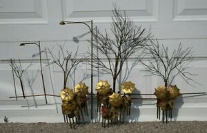 Curtis Jere Rainy Day People w Umbrellas & Trees Metal VTG Wall Sculpture