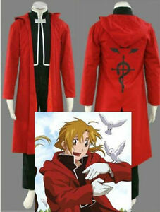 Anime Fullmetal Alchemist Edward Elrics cosplay costume Cloak black under $33.99