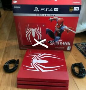 PlayStation 4 Pro 1TB Limited Edition SpiderMan Replacement Console Only