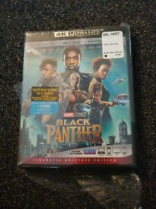 BLACK PANTHER  (4K ULTRA HD BLU RAY Digital Code)  Torn Plastic Wrap Sealed