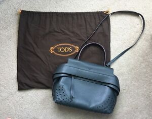 Authentic Tod's Wave Leather Bag with Detachable Strap  MSRP$2500