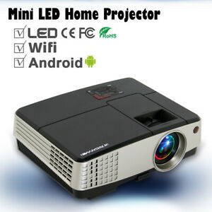 Portable Android WIFI Video Projector Home Theater Airplay Multimedia HD HDMI TV