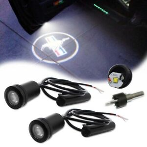 For Ford Mustang Side Door Welcome Logo Ghost Shadow Projector Laser LED Lights