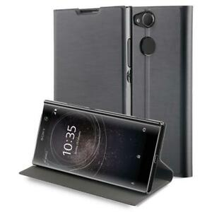 Genuine Roxfit Standing Book Folio Flip Case Cover for Sony Xperia XA2 - Black