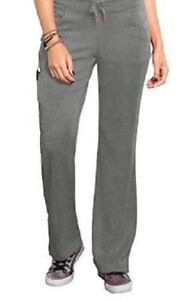 Bliss by Smitten Women's Ponte Front Panel Scrub Pant Heather Grey S201022  NWT