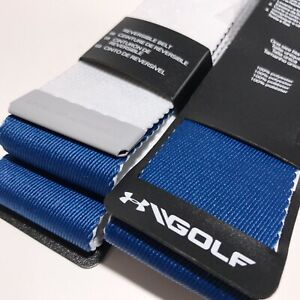 Under Armour Golf Belt Webbing Reversible 2.0 Cut to Size White - Blue    .A12