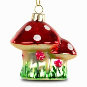 SIKORA BS217 Christmas Tree Ornament Glass Decoration Pendant - Fly Agaric