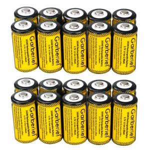 20PCS 16340 CR123A 3.7V Li Ion Rechargeable Battery for Arlo Security Camera