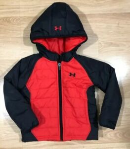 Baby UNDER ARMOUR Jacket Size 3T Red And Black $34.99