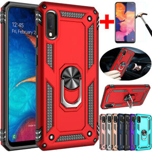 For Samsung Galaxy A10 A10e A20 A30 A50Shockproof Armor Magnetic Ring Case Cover